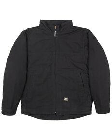 Berne Men's Black Flagstone Duck Flannel Work Jacket , Black, hi-res