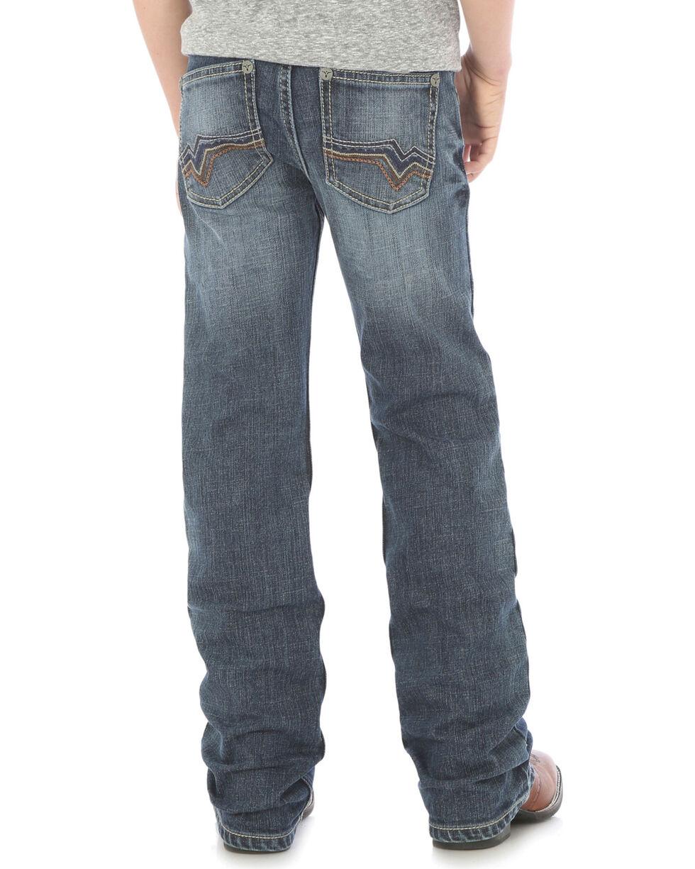 Wrangler Boys' 20X No. 42 Vintage Slim Boot Cut Jeans - Husky, Indigo, hi-res
