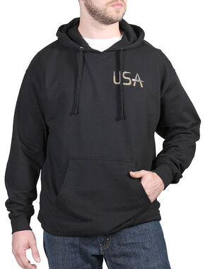 Cody James Men's USA Bullets Hoodie, Black, hi-res