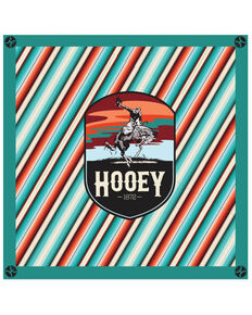 HOOey Cheyenne Silk Bandana, Turquoise, hi-res