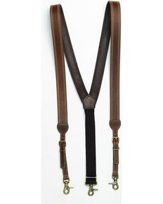 Nocona Triple Stitched Suspenders, Brown, hi-res