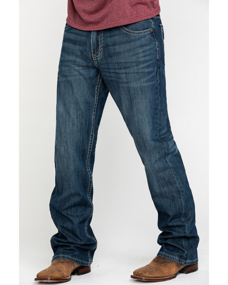 Cody James Men's Mid-Tier Rigid Relaxed Bootcut Jeans , Blue, hi-res
