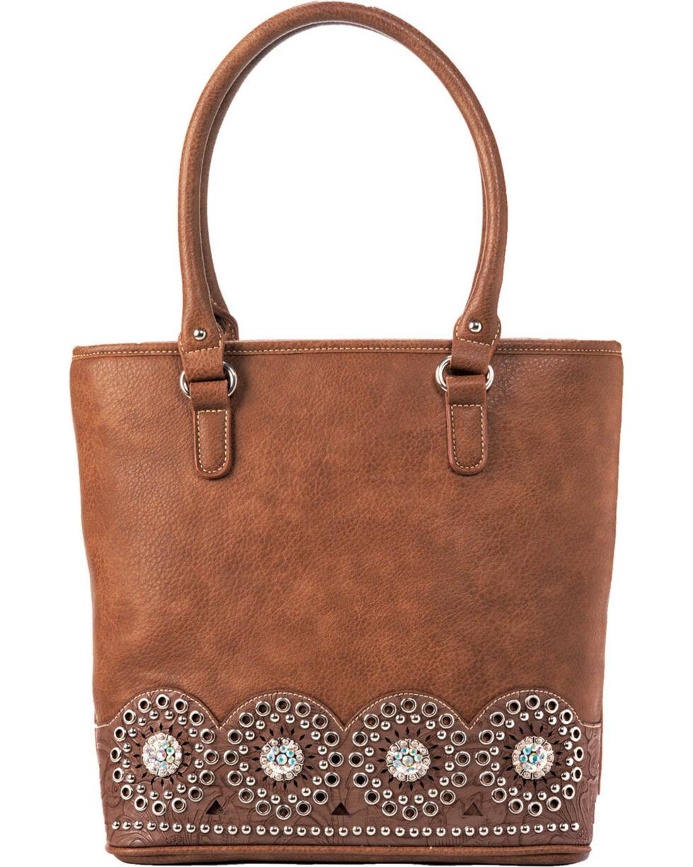 Blazin Roxx Women's Rhianna Embellished Tote Bag , Brown, hi-res