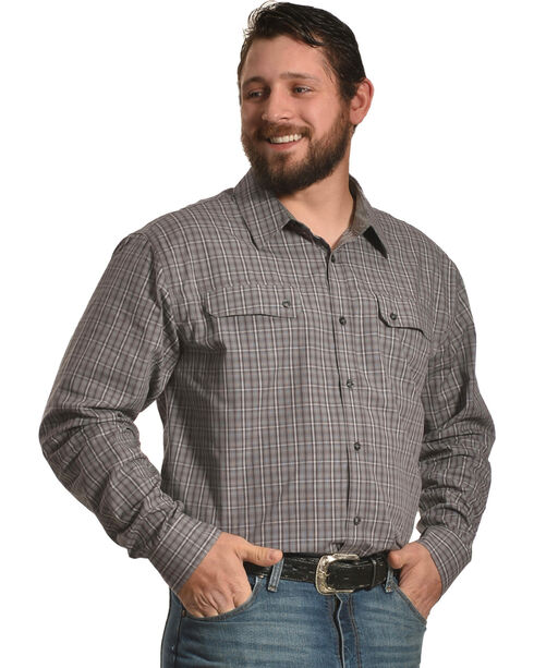 American Worker Men's Freepoint Plaid Work Shirt, Grey, hi-res