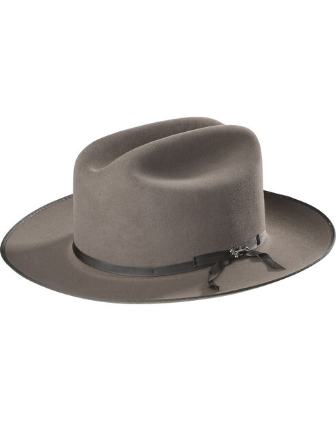 Stetson Men's Royal Deluxe Open Road Hat , Grey, hi-res