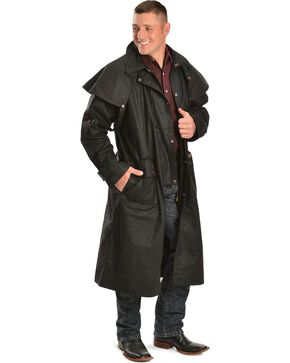 Outback Trading Co. Long Oilskin Duster, Black, hi-res