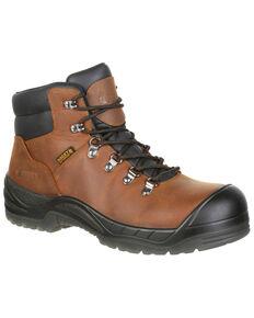 """Rocky Men's Worksmart Waterproof 5"""" Work Boots - Composite Toe, Brown, hi-res"""