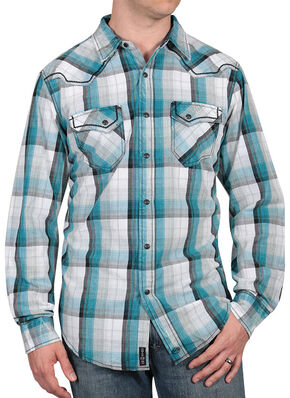 Moonshine Spirit Men's Banderas Western Shirt, Blue, hi-res