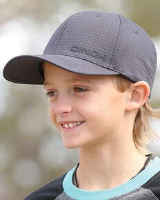 2a58274137372 Cinch Boys Charcoal Raised Logo Baseball Cap