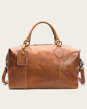 Frye Men's Logan Leather Overnight Bag , Cognac, hi-res