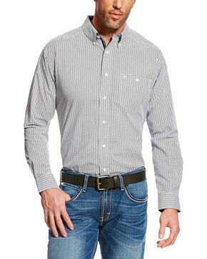 Ariat Men's Cream Hero Print Wrinkle Free Western Shirt , Black, hi-res