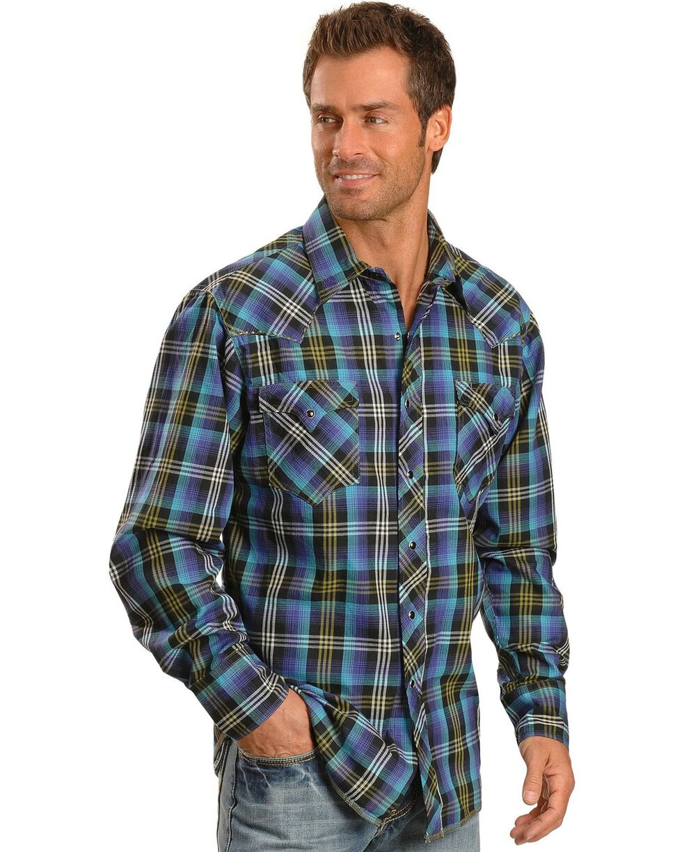 Tin Haul Horizon Multi Colored Plaid Long Sleeve Shirt, Multi, hi-res