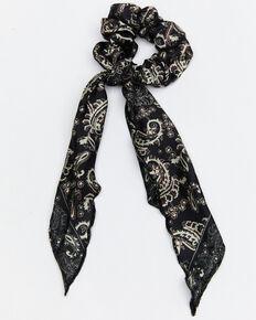 Idyllwind Women's Wild One Bandana Scrunchie, Cream/black, hi-res