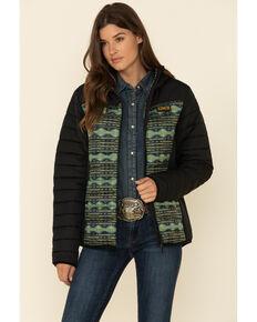 Cinch Women's Color-Block Hoodie Jacket , Purple, hi-res
