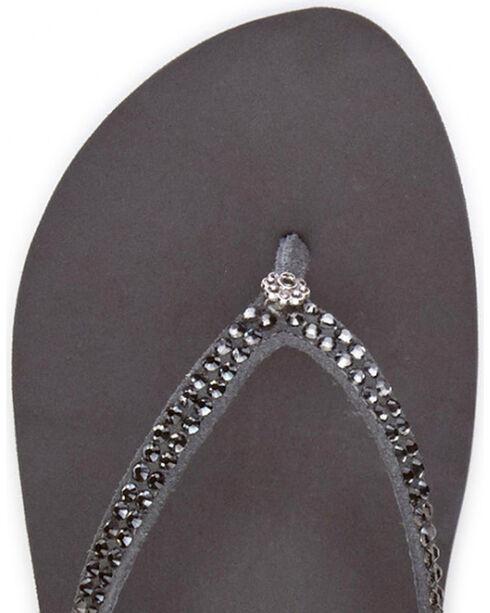 Yellow Box Women's Grey Jello Jeweled Sandals , Grey, hi-res