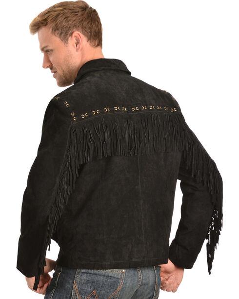 Scully Boar Suede Fringe Jacket, Black, hi-res