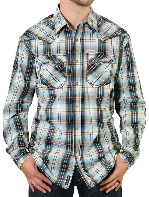 Moonshine Spirit Men's Distiller Plaid Western Shirt, Brown, hi-res