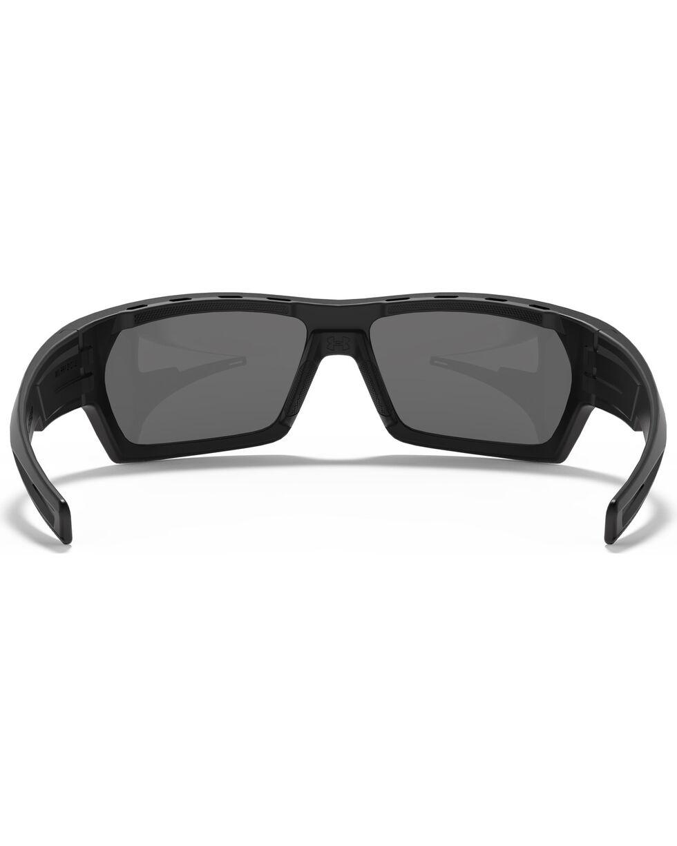 Under Armour Men's Satin Black Battlewrap Sunglasses, Black, hi-res