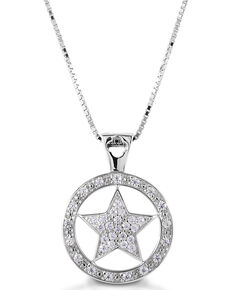 Kelly Herd Women's Large Star Pendant Necklace , Silver, hi-res