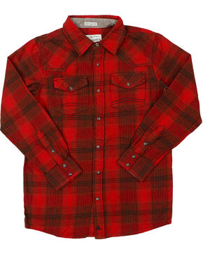 Cody James Boys' Red Lumber Jack Flannel Plaid Shirt , Red, hi-res