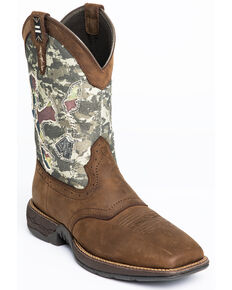 Cody James Men's Tychee Camo With Flag Underlay - Wide Square Toe, Camouflage, hi-res