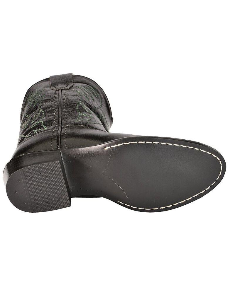 Old West Boys' Black Western Boots, Black, hi-res