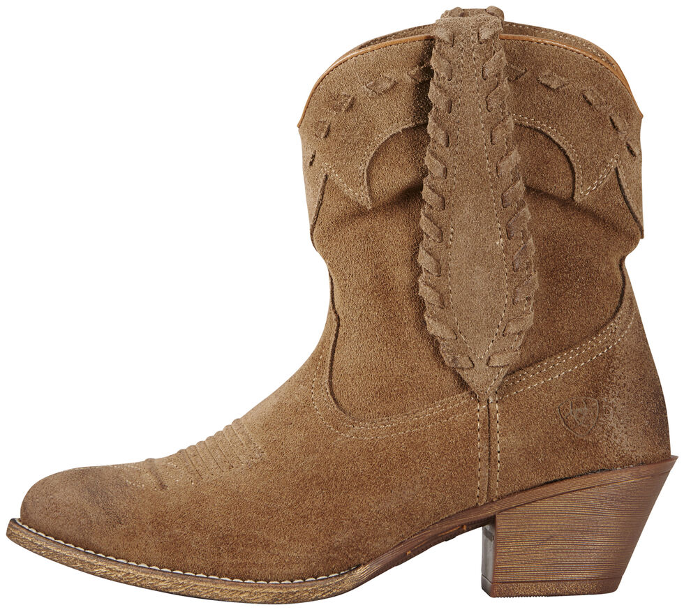 Ariat Relaxed Bark Women's Round Up Rianda Boots - Medium Toe, Tan, hi-res