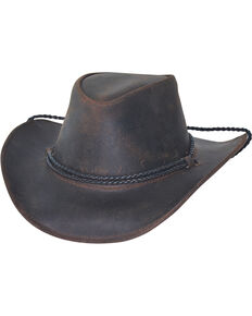 476a1d84a4d Bullhide Mens Hilltop Premium Leather Cowboy Hat