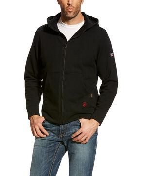 Ariat Men's Black FR Full Zip Hoodie - Big , Black, hi-res