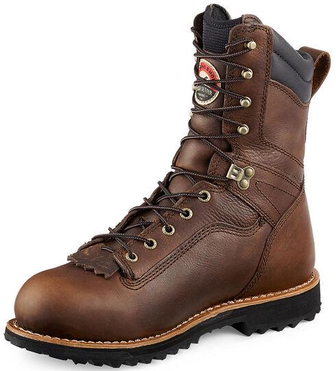 Red Wing Irish Setter Mesabi Logger Work Boots - Aluminum Toe , Brown, hi-res
