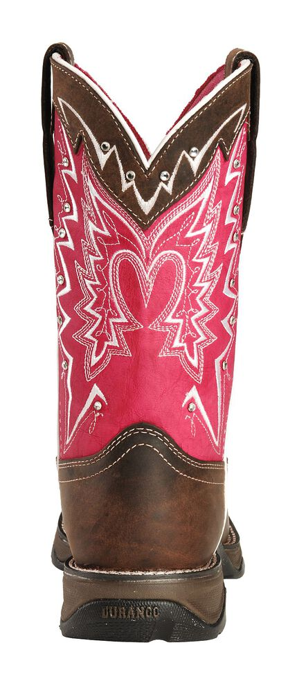 Durango Pink Ribbon Rebel Cowgirl Boots - Square Toe, Distressed, hi-res