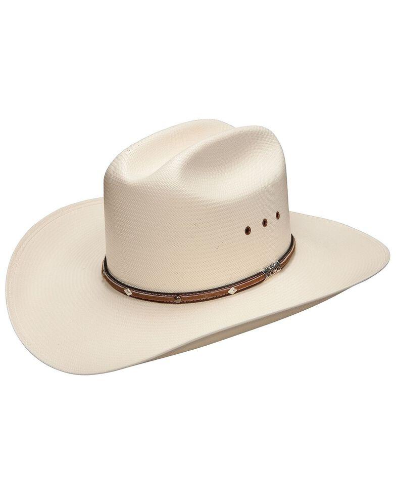 Stetson Men's Angus 10X Shantung Straw Cowboy Hat, Natural, hi-res