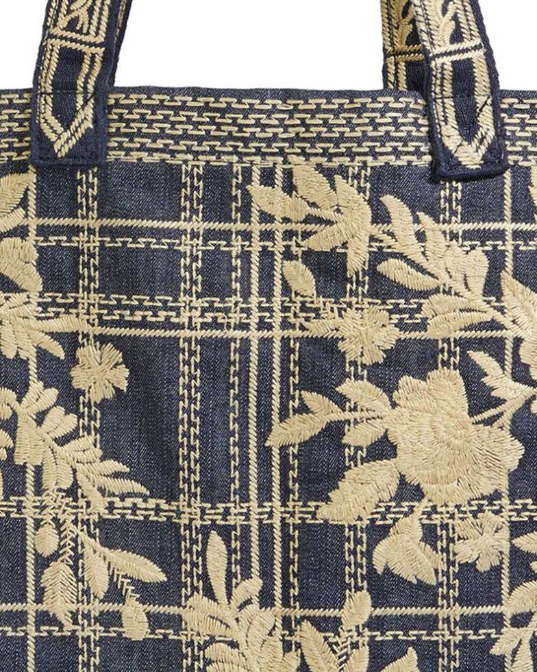 Johnny Was Women's Denim Cayden Everyday Tote Bag , Blue, hi-res