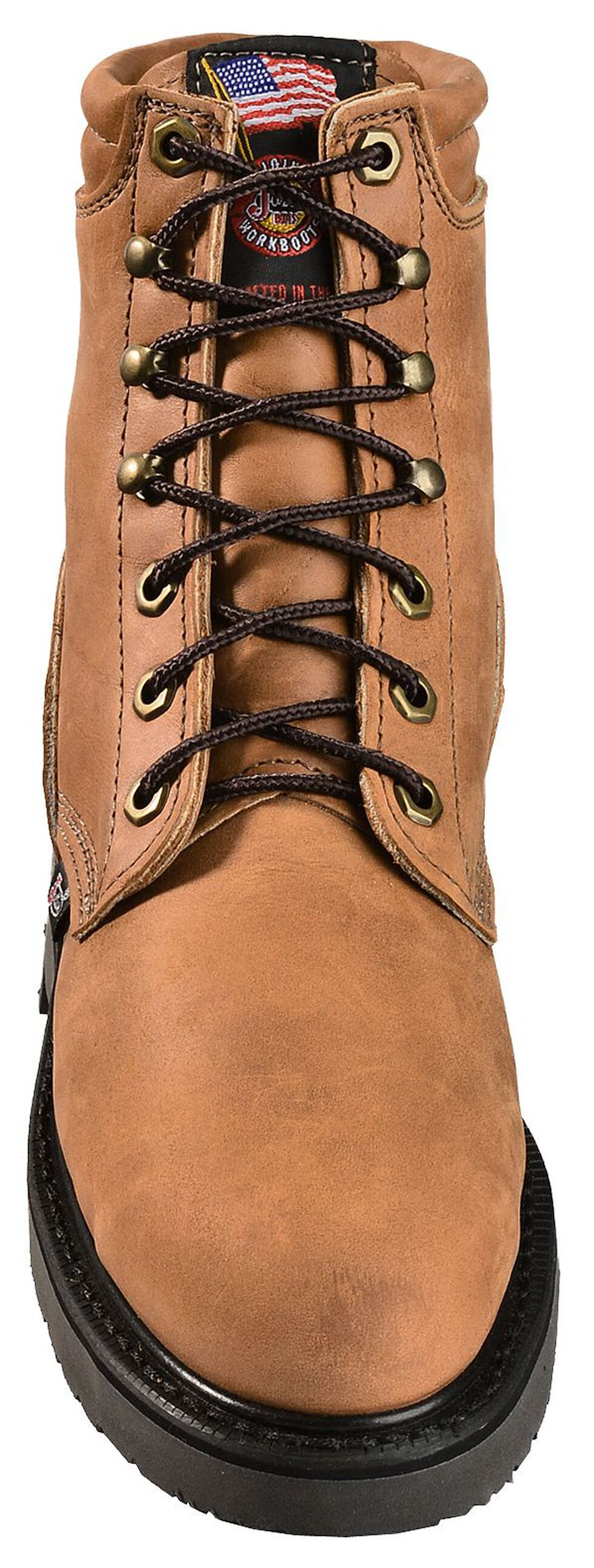 """Justin Women's 6"""" Dary Lace-up EH Work Boots - Steel Toe, Brown, hi-res"""