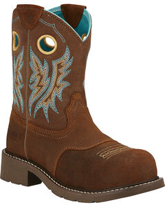 Ariat Fatbaby Cowgirl Work Boots - Composite Toe, Tan, hi-res