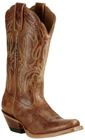 Ariat Women's Tan Bristol Boots - Square Toe, Tan, hi-res