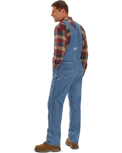"U.S.A. Made Round House Overalls - Reg, Big. Up to 50"" Waist, Stonewash, hi-res"