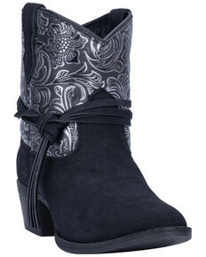 Dingo Women's Valerie Fashion Booties - Round Toe, Black, hi-res