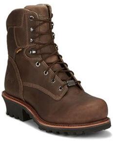 Chippewa Men's Bolville Waterproof Work Boots - Nano Composite Toe, Brown, hi-res