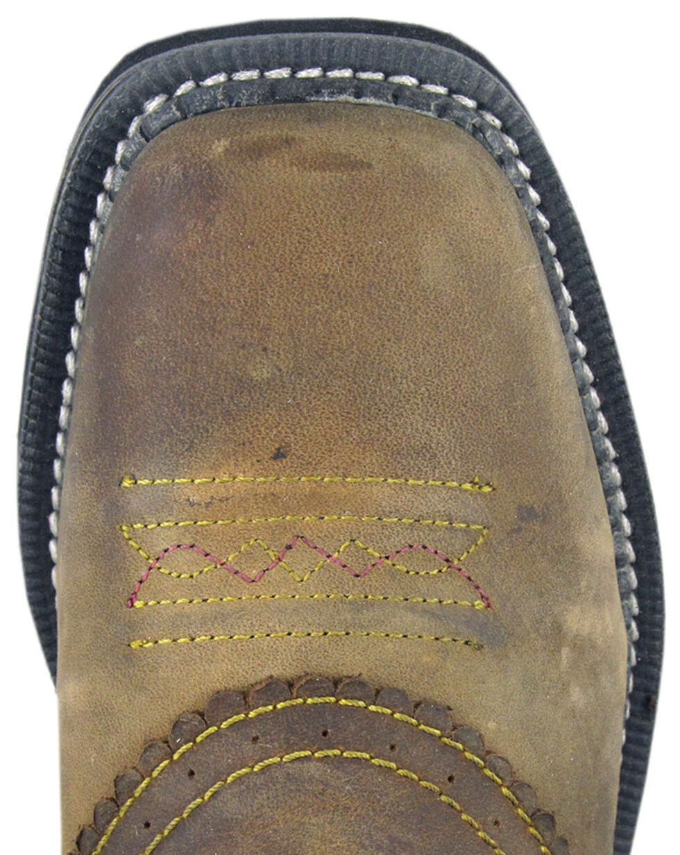 Smoky Mountain Boys' Pawnee Western Boots - Square Toe, Brown, hi-res