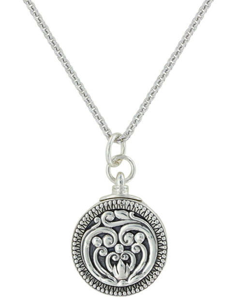 Sterling Lane Women's Capturing The Moment Locket Necklace , Silver, hi-res