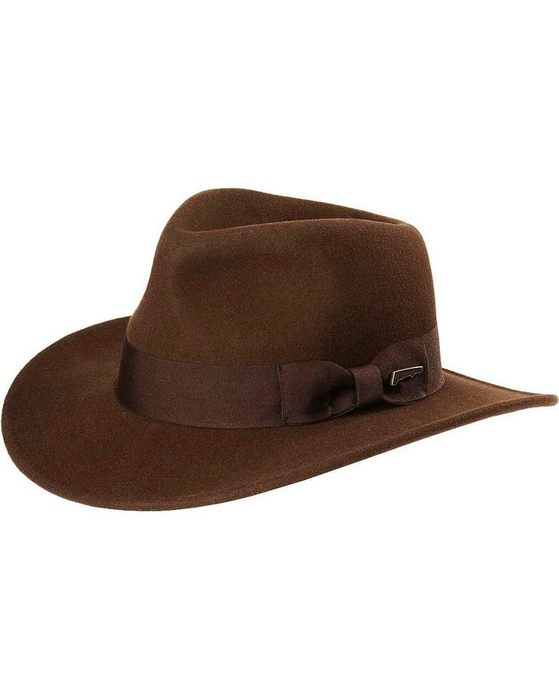 Indiana Jones Crushable Wool Fedora Hat  797dfac7ddd6