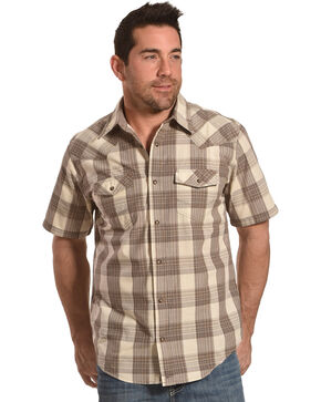 Cody James Men's Shackleford Brown Plaid Shirt, Brown, hi-res