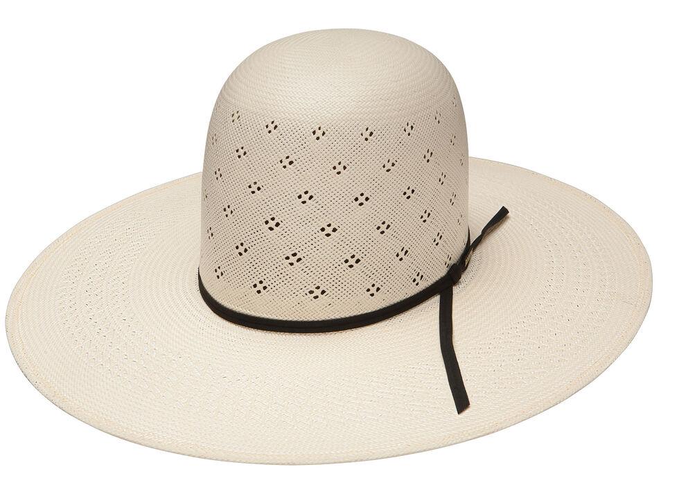 Resistol Men's Tuff-Anuff Conley Open Crown 20X Straw Hat, Natural, hi-res