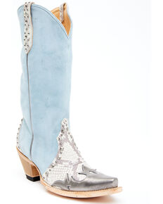 Idyllwind Women's Leap Blue Western Boots - Snip Toe, Blue, hi-res