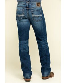Ariat Men's M7 Rocker Summit Dark Stretch Stackable Slim Straight Jeans , Indigo, hi-res