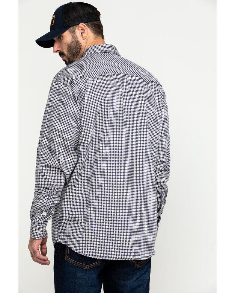Cinch Men's FR Lightweight Check Print Long Sleeve Work Shirt - Big , Purple, hi-res