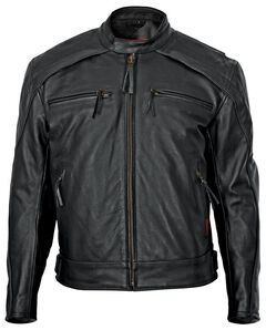 Milwaukee Motorcycle Leather Scooter Jacket, Black, hi-res