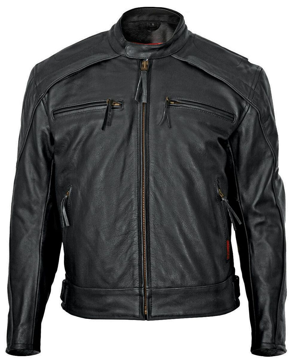 Milwaukee Motorcycle Scooter Leather Jacket - Big & Tall, Black, hi-res