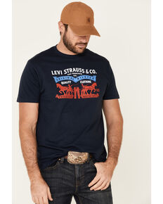 Levi's Men's Navy Nelson Logo Graphic T-Shirt , Navy, hi-res